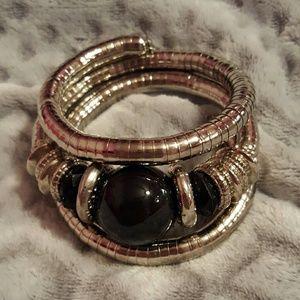Jewelry - ❤3 for $15! Silvertone coil bracelet